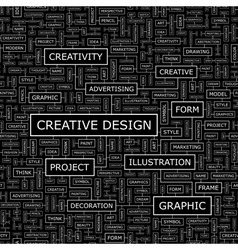 CREATIVE DESIGN vector image