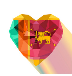 crystal gem flag of the sri lanka vector image