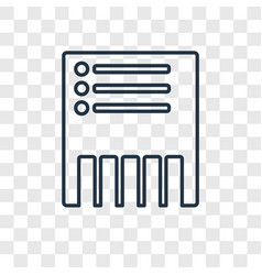 Delete concept linear icon isolated on vector