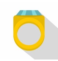 Diamond ring icon flat style vector