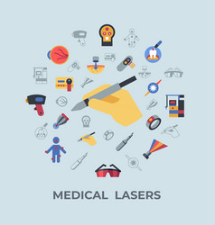 digital medical lasers simple icons vector image