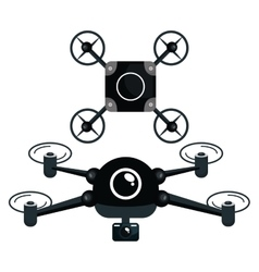 Drone technology modern icon vector