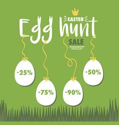 Easter egg hunt sale vector