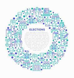 Election and voting concept in circle vector