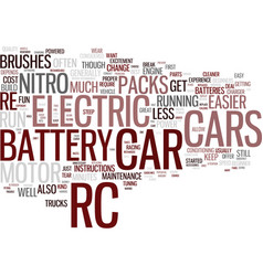electirc rc cars for fun and excitement text vector image