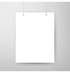 Empty Poster Template vector
