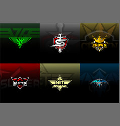 Esport pack logo for team vector