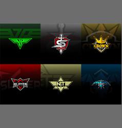 Esport pack logo for team vector