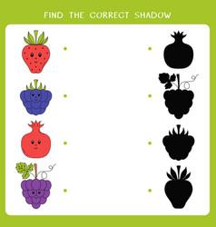 find correct shadow vector image