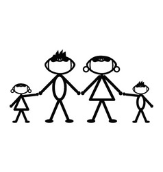 Football stick family vector image
