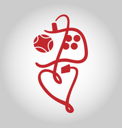 game controller symbol icon vector image