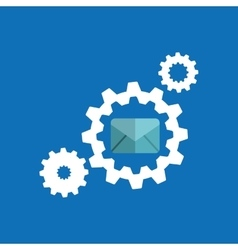gears elements message email icon vector image