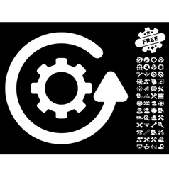 Gearwheel Rotation Direction Icon with vector