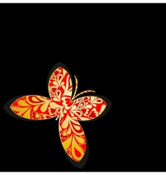 Gold ornamental butterfly vector image