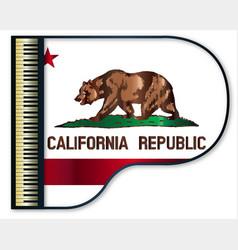 Grand piano california flag vector