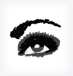 Grunge abstraction grey make-up vector image