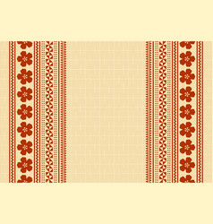 hawaiian background in polynesian style with vector image