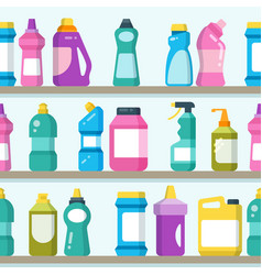 household goods and cleaning supplies on vector image
