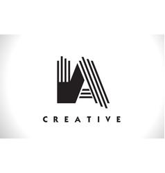 ia logo letter with black lines design line letter vector image