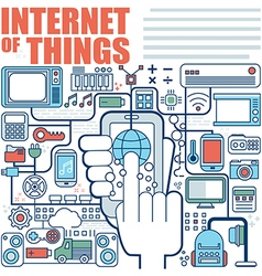 Infographics elements concept of internet of thing vector