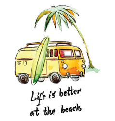life is better at beach vector image