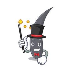 Magician hair mascot cartoon style vector