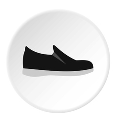 Male shoe icon flat style vector image