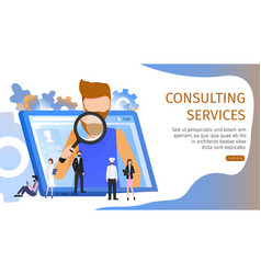 man choosing various business job occupation vector image