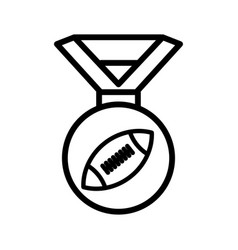 Medal american football line icon simple design vector