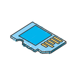 Micro sd technology to save documents vector