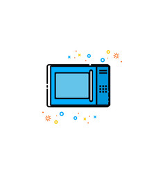 microwave mbe style logo vector image