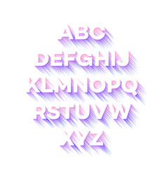 modern holidays party alphabet vector image