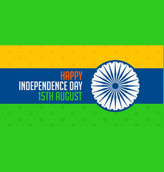 National indian happy independence day india vector