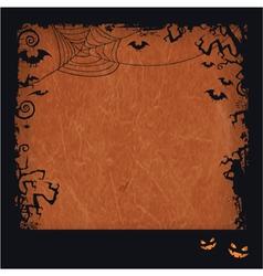 Orange Halloween grunge frame vector