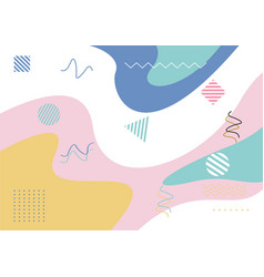 Pastel colors background abstract style vector