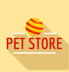 pet toys store logo flat style vector image