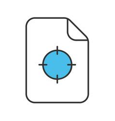 printing registration mark color icon vector image