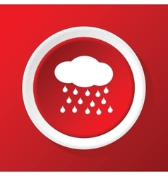 Raining icon on red vector