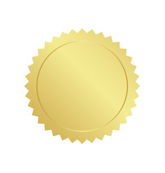 realistic gold seal vector image
