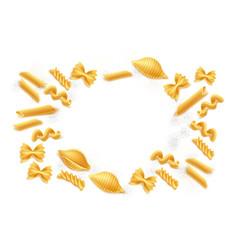 realistic italian pasta spaghetti italy 3d vector image