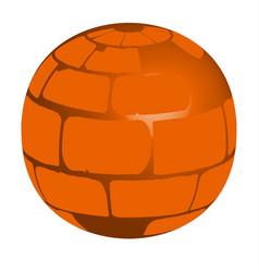 red brick ball vector image