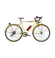 Road bike in flat style vector