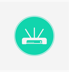 router icon sign symbol vector image