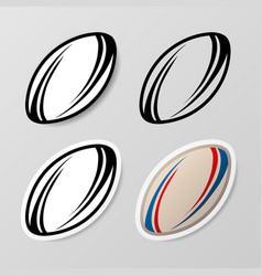 Rugsymbol stickers set vector