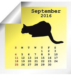 September 2016 Calendar vector