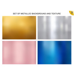 set of metallic gold pink gold silver blue vector image