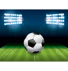 Soccer Football on Stadium Field vector image