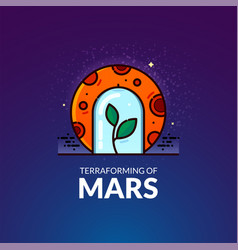 Terraforming of mars vector