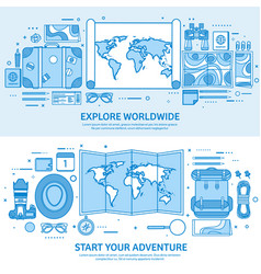 travel and tourism world map earth globe trip vector image