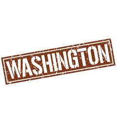 Washington brown square stamp vector